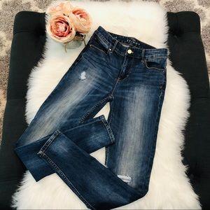 WHITE HOUSE BLACK MARKET High Rise Skinny Jeans 0